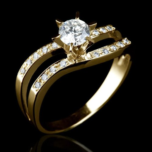 pare price Holyland 1 CARAT DIAMOND ENGAGEMENT RING 18K SOLID YELLOW GOLD