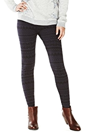 Indigo Collection Cotton Rich Fair Isle Leggings
