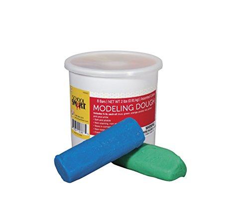 School Smart Non-Toxic Modeling Dough - 1/4 pound Sticks - Set of 8 - Assorted Colors - 1