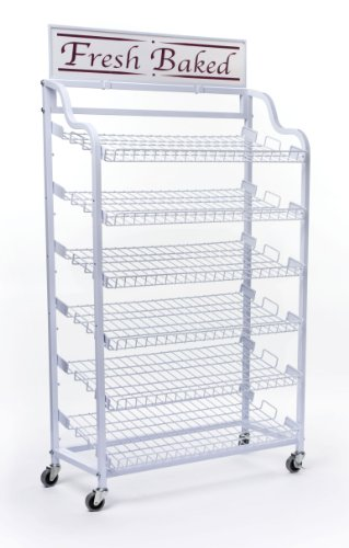 Wire Storage Rack  6 Tilting Shelves and Locking