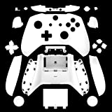 Canamite Replacement Parts Full Housing Shell Protective Case Cover Button Kit for Xbox ONE Slim Controller (White) (Color: White)