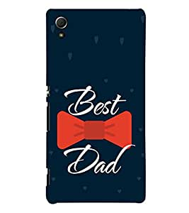 Best Dad Red Bow 3D Hard Polycarbonate Designer Back Case Cover for Sony Xperia Z4