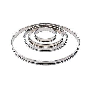 Matfer Bourgeat 371613 Plain Tart Ring, Silver at Sears.com
