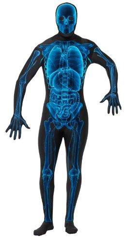 Ganzkörperanzug für Herren Ganzkörper Anzug Röntgen Strahlen Röntgenstrahlung Kostüm Halloweenkostüm Herrenkostüm Halloween Gr. 48/50 (M), 52/54 (L), 54/56 (XL), Größe:XL