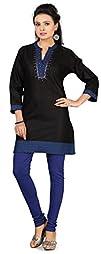 Cotton Kurti Top Long Tunic Womens Em…