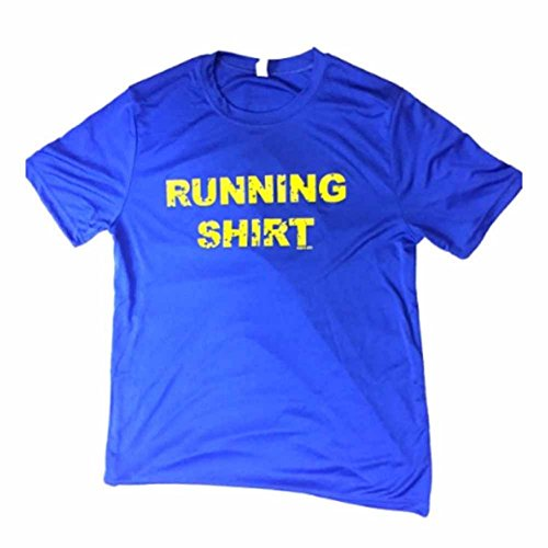 Running-Shirt-Mens-Royal-Blue-Dri-Fit-Performance-Tech-Shirt