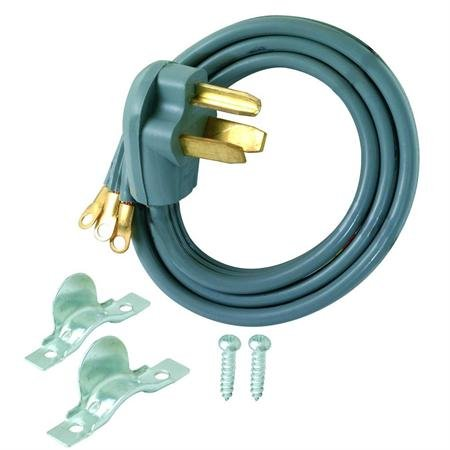 3-Wire 30A Dryer Cord - 5Foot Length With White Earbud Headphones