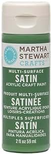 Martha Stewart Crafts 32002 2-Ounce Acrylic Satin Paint, Pesto