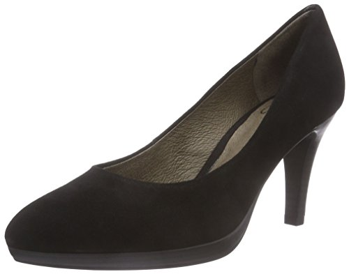 Caprice 22412, Decolleté chiuse donna, Nero (Schwarz (BLACK SUEDE 004)), 39