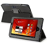 Fosmon Leather Folio Case with Stand for Acer Iconia Tab A100 (Black)