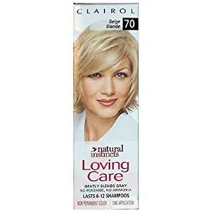 Clairol Loving Care Hair Color Crème Lotion 70 Beige Blonde, 3 oz, 1 ea