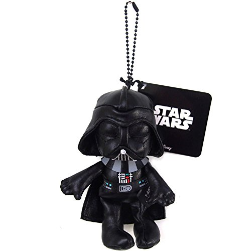 Japan Disney Official Star Wars the Force Awakens - Darth Vader Head Mascot Soft Plush Stuffed Toys Cushion Doll Plushie Ball Key Chain Strap Charm String Phone Ring Holder Accessory Takara Tomy Arts