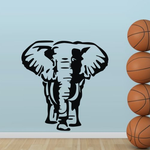 """Colorfulhall 23.6"""" X 31.5"""" Wall Dacals Stickers Decal Diy Elephant Vinyl Animal Theme Nursery Boys Girls Kids Room Home Decor Decoration Mural Art front-595333"""