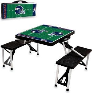 NFL Picnic Table Sport Color: Black, NFL Team: Denver Bronco