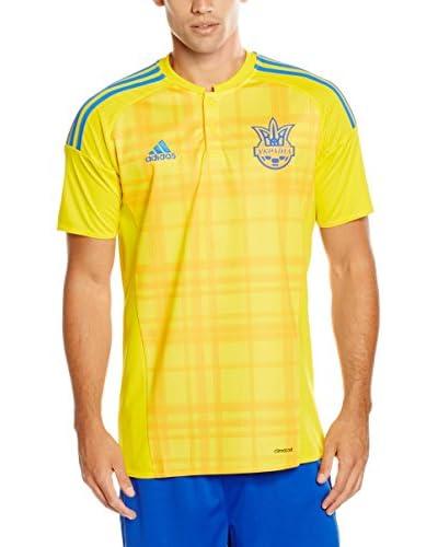 adidas Camiseta de Fútbol Ukraine Trikot Home EM 2016 Amarillo / Azul