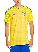 adidas Camiseta de Fútbol Ukraine Trikot Home EM 2016 (Amarillo / Azul)
