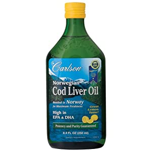 Carlson's Cod Liver Oil, lemon