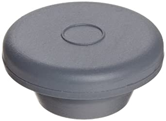 Wheaton 224100-174 Rubber 20mm Straight Plug Style Stopper, Gray Chlorobutyl-Isoprene Blend/40 (Case of 1000)