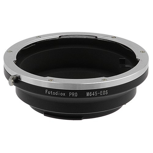 Fotodiox 10M645EOSP-C Pro Lens Mount Adapter with Dandelion AF Focus Confirmation Chip - Mamiya 645 Lens to Canon EOS Adapter for Canon EOS