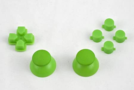 Green buttons, D-pad, Thumbstick set for Playstation 3 controller (Square, Triangle, X, Circle) Custom mod (PS3)