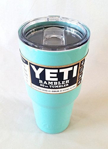 Yeti Custom Seafoam Turquoise 30 oz Rambler Tumbler Stainless Steel Cup - Includes Lid - Keeps your drink hot or cold!