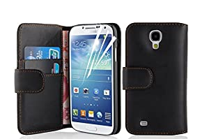 Jellybean Black Wallet Leather Case & Stylus Pen For Samsung Galaxy S4 I9500