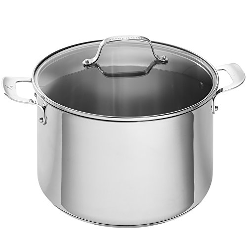 Emeril Lagasse 62961 Stainless Steel Stock Pot, 12-Quart, Silver