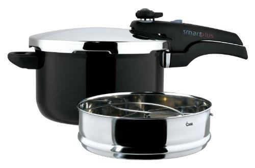 Prestige Smartplus Coated Aluminium Pressure Cooker Black, 5 Litre