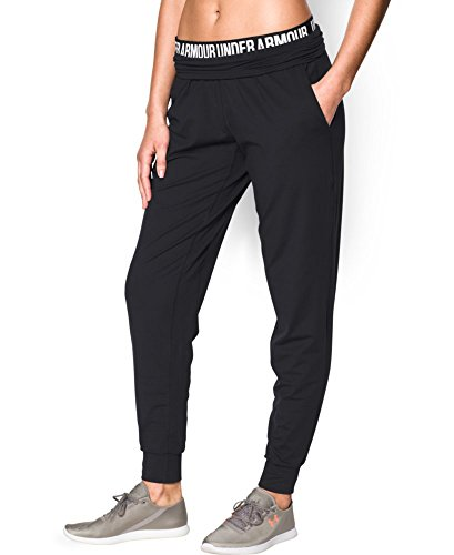 Under Armour Women's Downtown Knit Pant, Black (001), Large