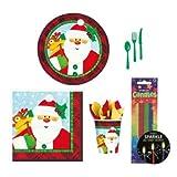 【クリスマス小物】テーブルウェアセット クラフティクリスマス(1パック)  / お楽しみグッズ(紙風船)付きセット [おもちゃ&ホビー]