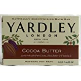 Yardley London Bar Soap Pure Cocoa, Shea Butter & Vitamin E, 4.25 Ounces /120 G (Pack of 8)