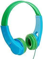 AmazonBasics On-Ear Headphones for Kids (Blue/Green)