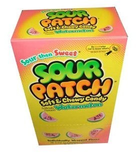 Sour Patch Soft & Chewy Candy, Watermelon, 240-Count Package