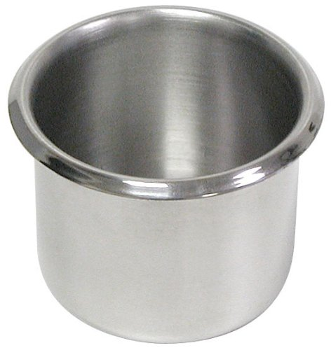 Trademark Stainless Steel Dual Size Table Drop-In Cup Holders For Tables (Set Of 10) front-772778