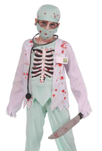 Forum Kids Zombie Skeleton Surgeon Evil Doctor Halloween Costume