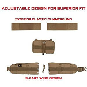 Atlas 46 AIMS Adjustable Padded Belt Coyote, Regular (28-38) | Work, Utility, Construction, Contractor, and Tactical (Color: Coyote, Tamaño: Regular (28-38))
