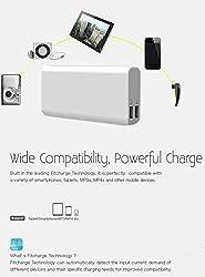 Genuine 10400 mah Fast Charging 2amp li-ion Dual USB power bank (WHITE)