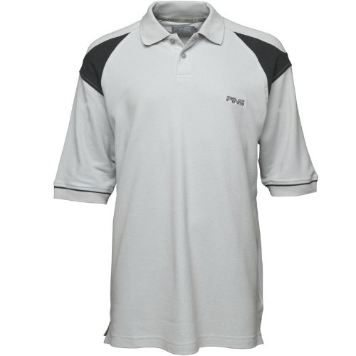 Ping Collection Mens Simian Polo Silver/Black