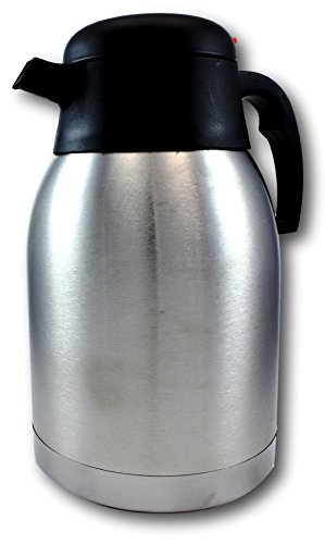EZ Pour Stainless Steel Coffee Carafe - Double Wall Vacuum Insulated Carafes by bogo Brands Home ...