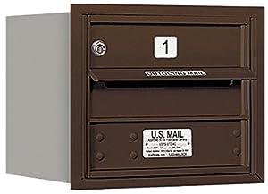 Salsbury Industries 3703S-01ZRP 4C Horizontal Mailbox, Bronze