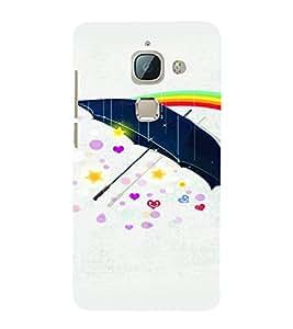 PrintVisa Romantic Love Umbrella 3D Hard Polycarbonate Designer Back Case Cover for LeEco Le Max 2