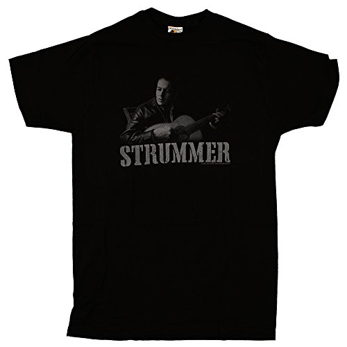 Joe Strummer - Acoustic Guitar Photo - Mens T-Shirt, Size: Small, Color: Black