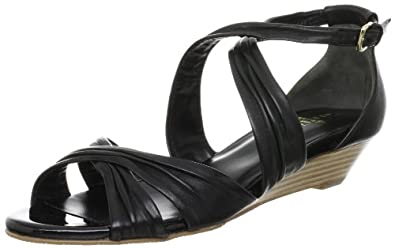 Cole Haan Air Tara.Sandal Womens Size 8.5 Black Open Toe Wedge Sandals Shoes