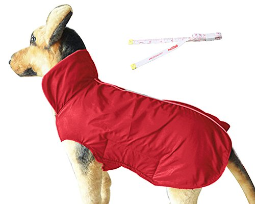 Waterproof 100% Polyester- Fleece Linend Jacket Cover Chest, Red
