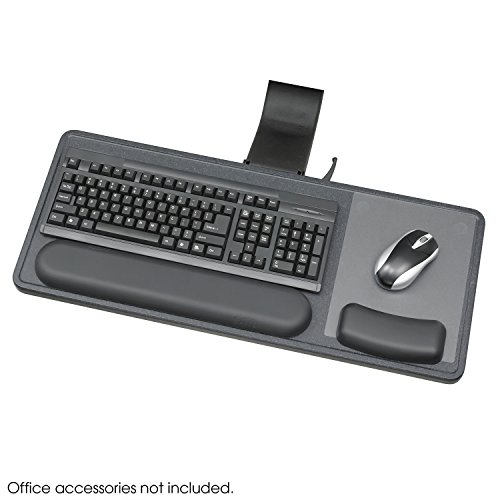 Safco Office Ergo-Comfort Sit/Stand Articulating Keyboard/Mouse Arm Articulating Keyboard Arm