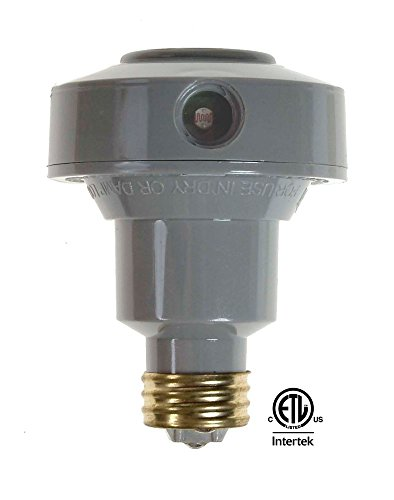 Led flood lights screw in : Westek olc clc w outdoor screw in flood light control