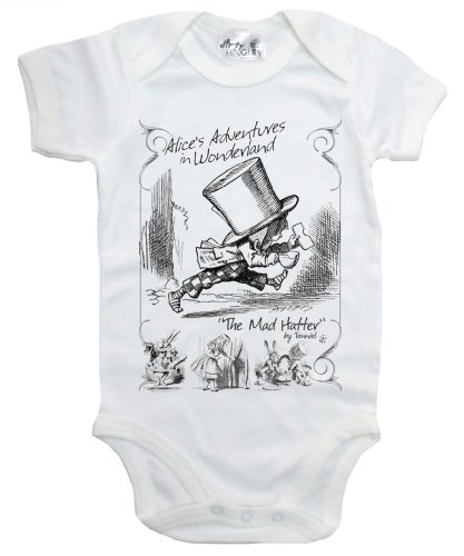 Dirty Fingers - The Mad Hatter, Alice'S Adventures In Wonderland - Baby & Toddler Short Sleeve Bodysuit, 3-6 Mths, White