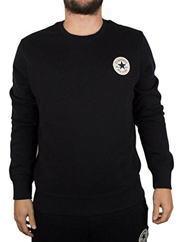 Converse Uomo Core Logo Sweatshirt, Nero, Large