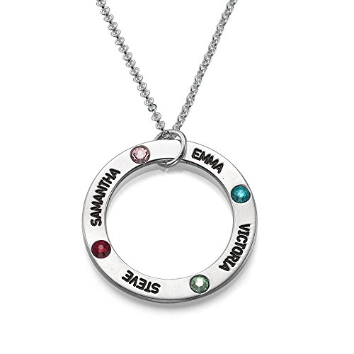 Engraved Birthstone Necklace - Custom Made With Any Name!