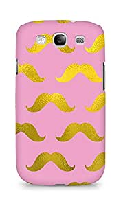 Amez designer printed 3d premium high quality back case cover for Samsung Galaxy S3 i9300 (pink gold muchi)